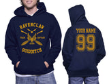 Customize - New Ravenclaw CAPTAIN Quidditch Team Unisex Adult Pullover Hoodie Navy
