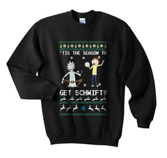 1# Get Schwifty Rick and Morty Ugly Sweater Unisex Crewneck Sweatshirt - Meh. Geek - 3