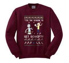 1# Get Schwifty Rick and Morty Ugly Sweater Unisex Crewneck Sweatshirt - Meh. Geek - 1