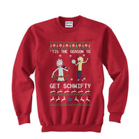 1# Get Schwifty Rick and Morty Ugly Sweater Unisex Crewneck Sweatshirt - Meh. Geek - 2