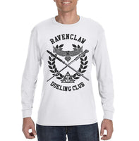 Ravenclaw Dueling Club Bw Ink Men Long Sleeve T-shirt Tee PA