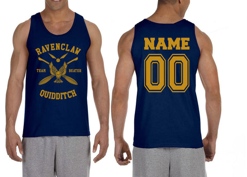 Customize - New Ravenclaw Yellow Ink BEATER Quidditch Team Men Tank Top