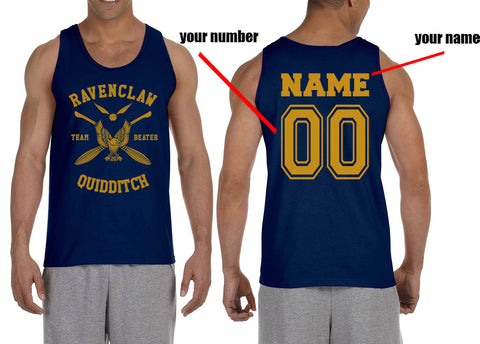 2f86459a145cf Customize - New Ravenclaw Yellow Ink BEATER Quidditch Team Men Tank Top  Mehgeek