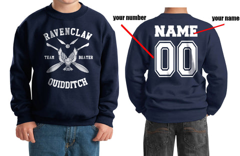 Customize - New Ravenclaw BEATER Quidditch Team W ink Kid / Youth Crewneck Sweatshirt