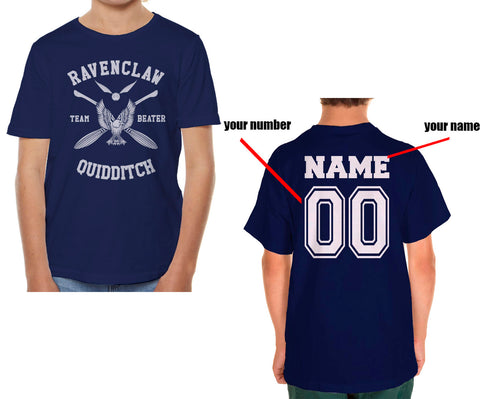 Customize - New Ravenclaw BEATER Quidditch Team White ink Kid / Youth T-shirt tee