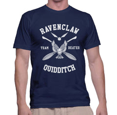 Customize - New Ravenclaw BEATER Quidditch Team White ink Men T-shirt tee Navy