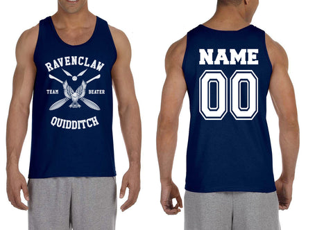 Customize - New Ravenclaw White Ink BEATER Quidditch Team Men Tank Top
