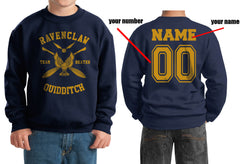 Customize - New Ravenclaw BEATER Quidditch Team Y ink Kid / Youth Crewneck Sweatshirt