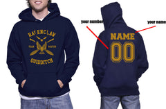 Customize - New Ravenclaw BEATER Quidditch Team Unisex Adult Pullover Hoodie Navy