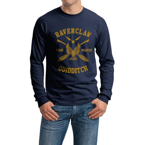Ravenclaw BEATER Yellow Ink Quidditch Team Long Sleeve T-shirt for Men PA New
