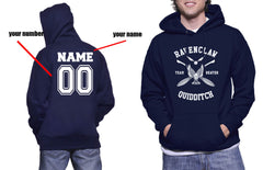 Customize - New Ravenclaw BEATER Quidditch Team White ink Unisex Adult Pullover Hoodie Navy