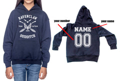 Customize - New Ravenclaw CAPTAIN Quidditch White ink Team Kid / Youth Hoodie Navy