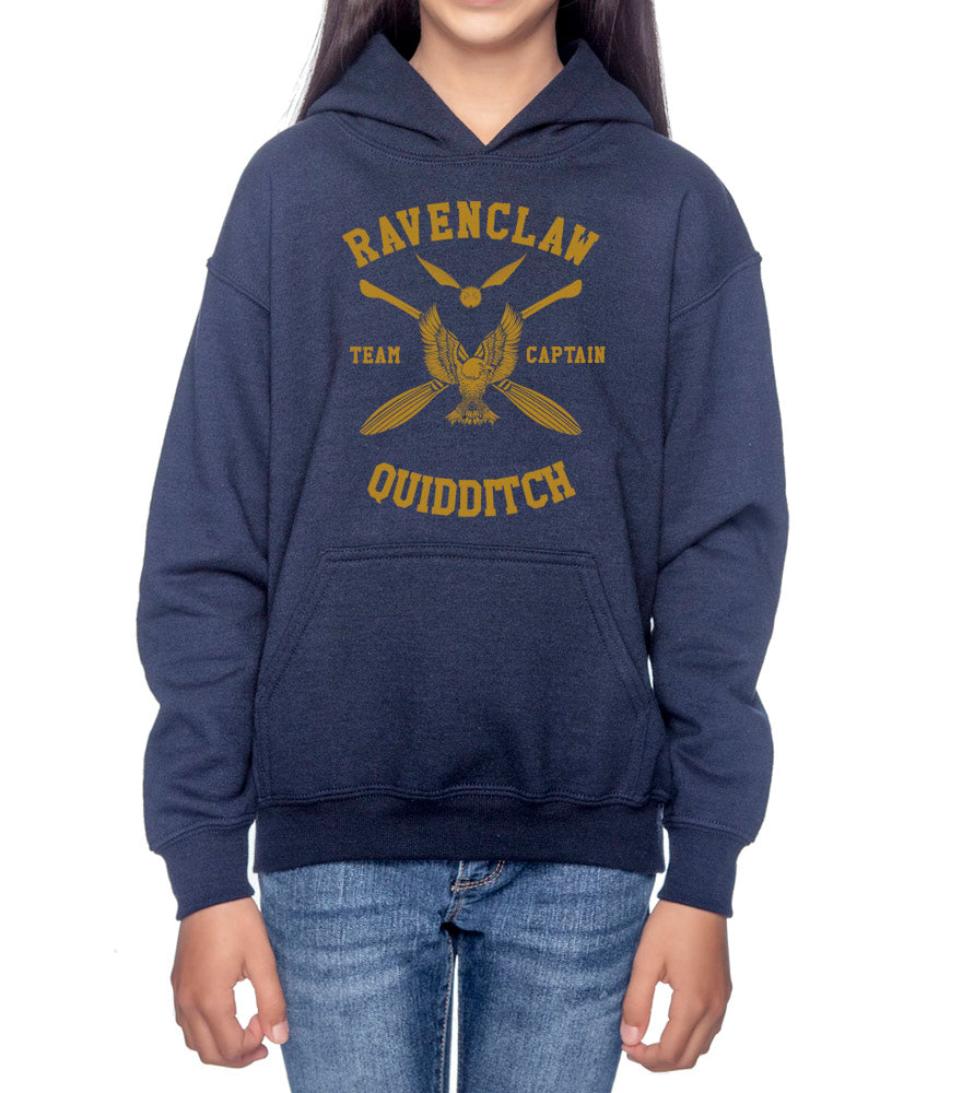Ravenclaw CAPTAIN Quidditch Yellow Team Kid / Youth Hoodie Navy PA New