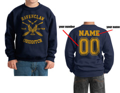 Customize - New Ravenclaw CAPTAIN Quidditch Team Y ink Kid / Youth Crewneck Sweatshirt