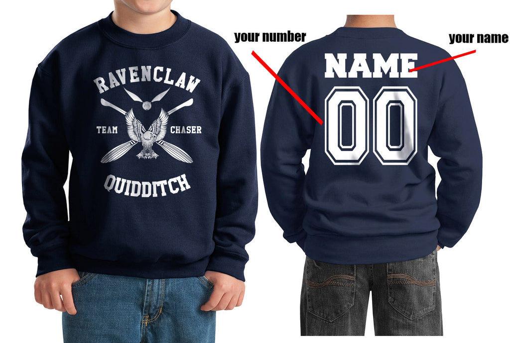Customize - New Ravenclaw CHASER Quidditch Team W ink Kid / Youth Crewneck Sweatshirt