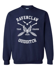 Customize - New Ravenclaw CHASER Quidditch Team White Unisex Crewneck Sweatshirt Navy (Adult)
