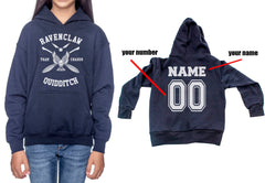 Customize - New Ravenclaw CHASER Quidditch White ink Team Kid / Youth Hoodie Navy