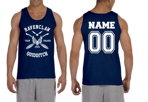 Customize - New Ravenclaw White Ink CHASER Quidditch Team Men Tank Top