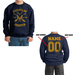 Customize - New Ravenclaw CHASER Quidditch Team Y ink Kid / Youth Crewneck Sweatshirt