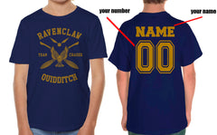 Customize - New Ravenclaw CHASER Quidditch Team Yellow ink Kid / Youth T-shirt tee