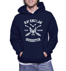 Customize - New Ravenclaw CHASER Quidditch Team White ink Unisex Adult Pullover Hoodie Navy