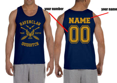 Customize - New Ravenclaw Yellow Ink KEEPER Quidditch Team Men Tank Top