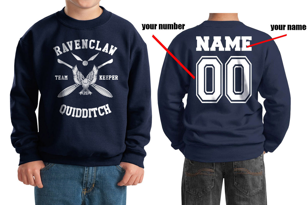 Customize - New Ravenclaw KEEPER Quidditch Team W ink Kid / Youth Crewneck Sweatshirt