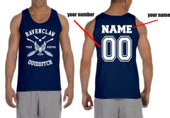Customize - New Ravenclaw White Ink KEEPER Quidditch Team Men Tank Top
