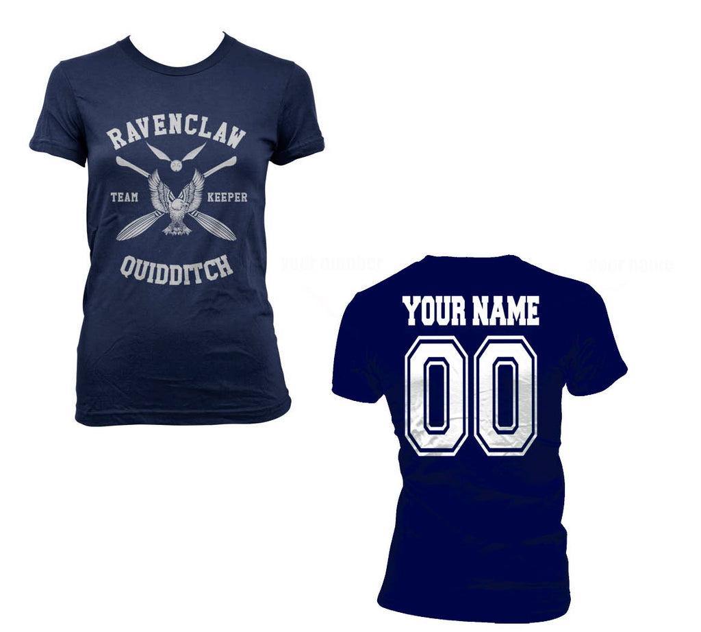 Customize - New Ravenclaw KEEPER Quidditch team White ink Women T-shirt Tee