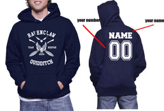 Customize - New Ravenclaw KEEPER Quidditch Team White ink Unisex Adult Pullover Hoodie Navy