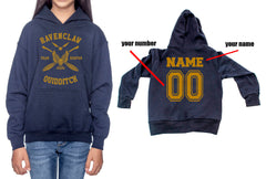 Customize - New Ravenclaw KEEPER Quidditch Yellow Team Kid / Youth Hoodie Navy