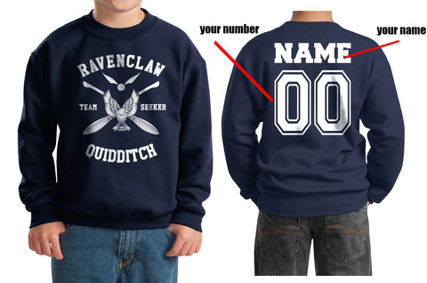 Customize - New Ravenclaw SEEKER Quidditch Team W ink Kid / Youth Crewneck Sweatshirt