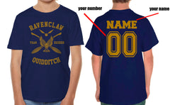 Customize - New Ravenclaw SEEKER Quidditch Team Yellow ink Kid / Youth T-shirt tee