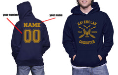 Customize - New Ravenclaw SEEKER Quidditch Team Unisex Adult Pullover Hoodie Navy