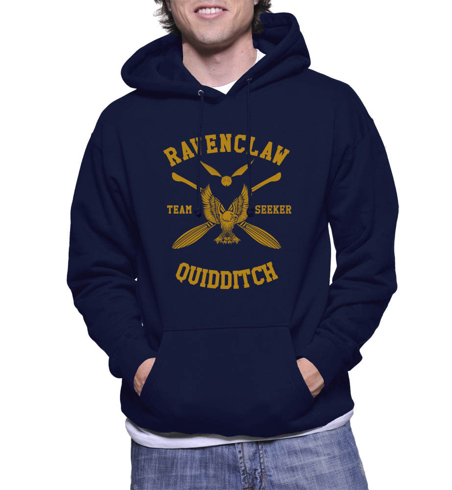 Ravenclaw SEEKER Quidditch Team Unisex Pullover Hoodie Navy PA New