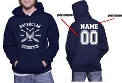 Customize - New Ravenclaw SEEKER Quidditch Team White ink Unisex Adult Pullover Hoodie Navy