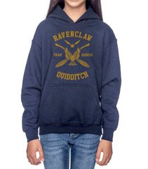 Customize - New Ravenclaw SEEKER Quidditch Yellow Team Kid / Youth Hoodie Navy
