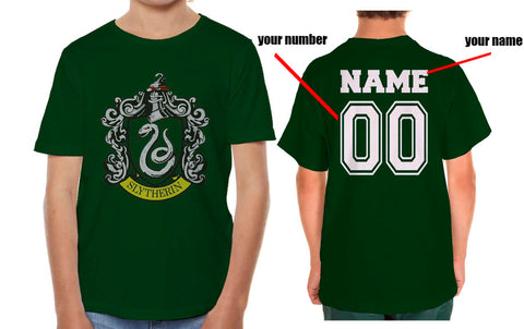 Customize - Slytherin Crest #1 Kid / Youth T-shirt tee