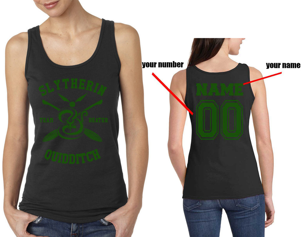 Customize - New Slytherin BEATER Quidditch Team Green Women Tank top