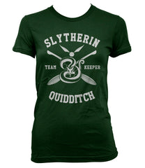 Customize - New Slytherin KEEPER Quidditch team Women T-shirt Forest