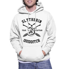 Slytherin CAPTAIN Quidditch Team Black ink Unisex Pullover Hoodie PA New