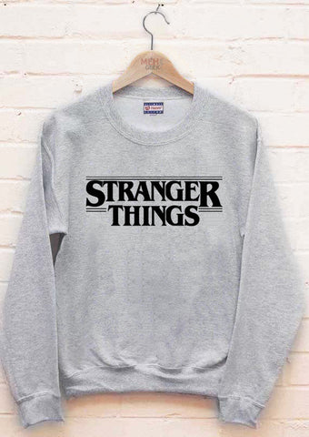 Stranger Things Full B/w Unisex Crewneck Sweatshirt