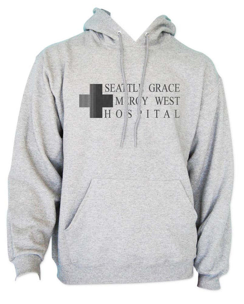 LOGO ONLY Seattle Grace Mercy West Hospital Unisex Pullover Hoodie - Meh. Geek - 1