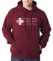 LOGO ONLY Seattle Grace Mercy West Hospital Unisex Pullover Hoodie - Meh. Geek - 2