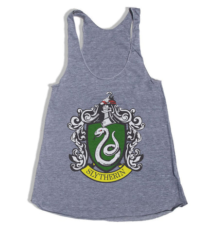 Slytherin #1 Crest Triblend Racerback Women Tank Top PA Crest