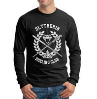 Slytherin Dueling Club Bw Ink Men Long Sleeve T-shirt Tee PA