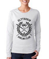 Original Slytherin Dueling Club Bw Ink Long sleeve T-shirt for Women PA