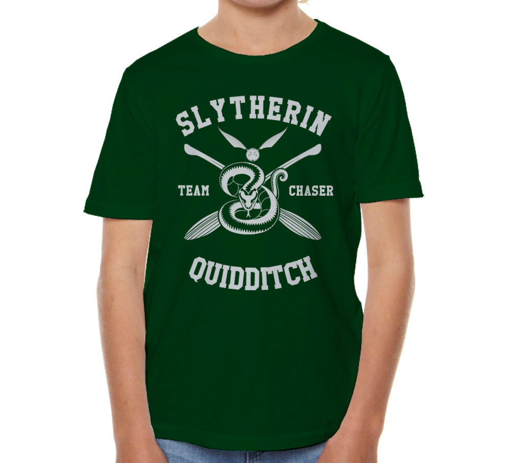 Slytherin CHASER Quidditch Team Kid / Youth T-shirt tee Forest PA New