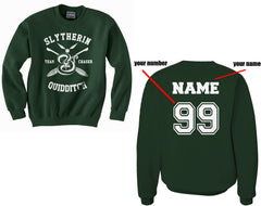 Customize - New Slytherin CHASER Quidditch Team Unisex Crewneck Sweatshirt(Adult)