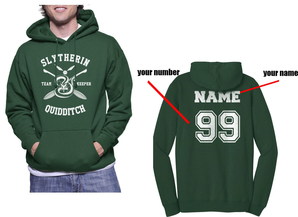 customize Slytherin KEEPER Quidditch Team Unisex Pullover Hoodie